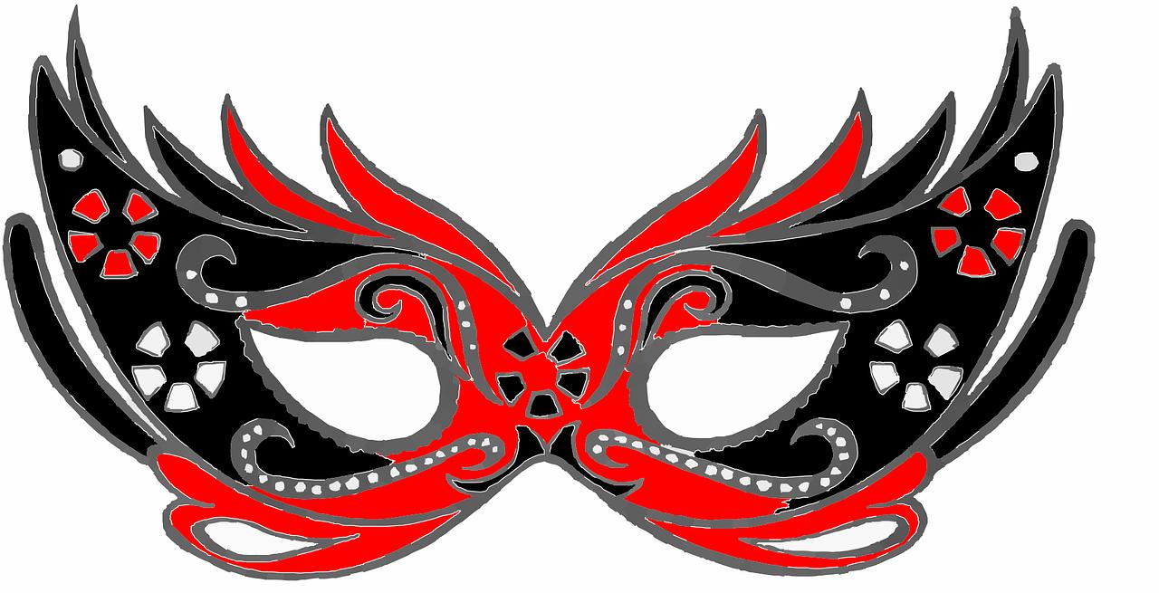 maska karnawałowa do druku