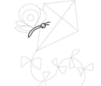 Narysuj po śladzie – latawiec