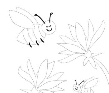 Rysowanie po linii lato do wydruku dla dzieci malowanki do pobrania