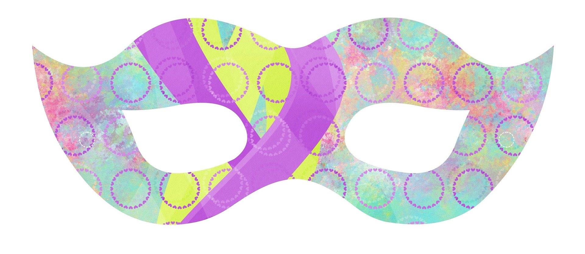 Karnawałowa maska do druku dla dzieci