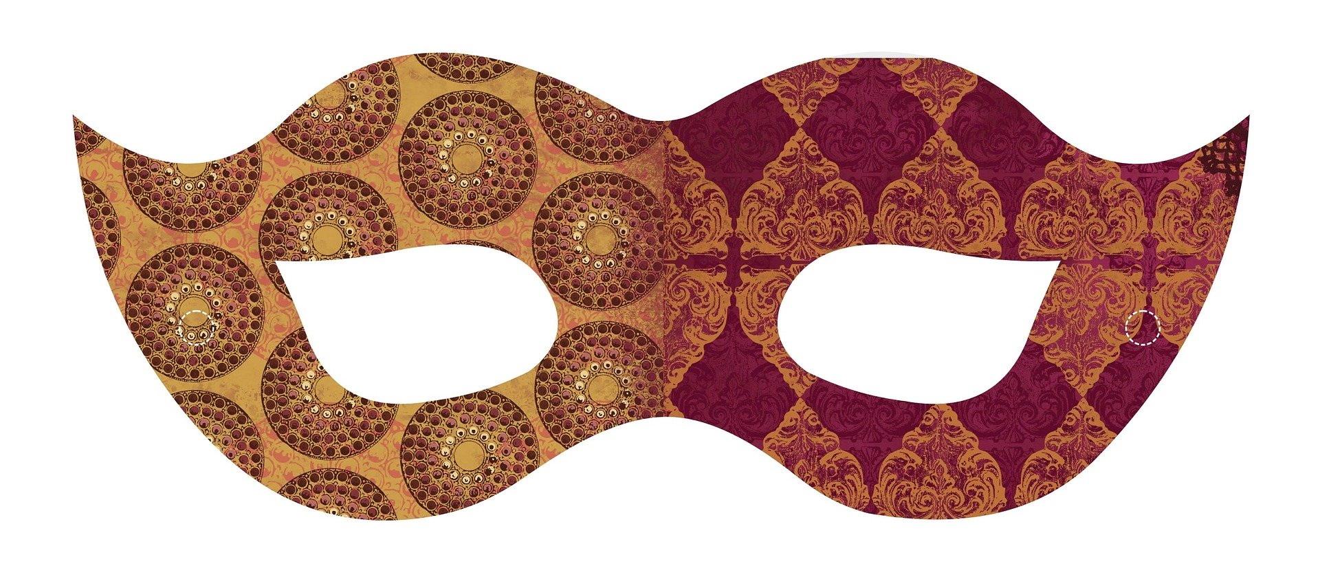 Ładna maska karnawałowa do druku