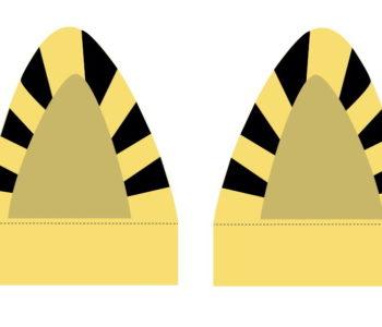 Uszy tygrysa do pobrania. Maski i materiały do pobrania na bal karnawałowy dla dzieci