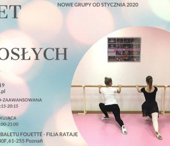 Nabór do nowych grup – Balet dla dorosłych