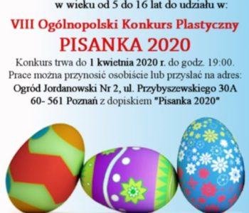 VIII Ogólnopolski Konkurs Plastyczny – Pisanka 2020