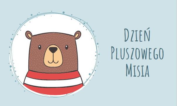 Dzień Pluszowego Misia napis do druku