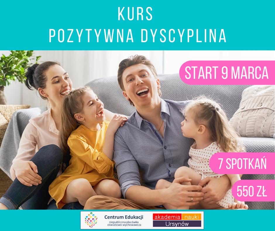 Centrum Edukacji Migdałowa zaprasza na kurs dla rodziców Pozytywna dyscyplina!