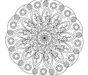 kolorowanka antystresowa do druku mandala