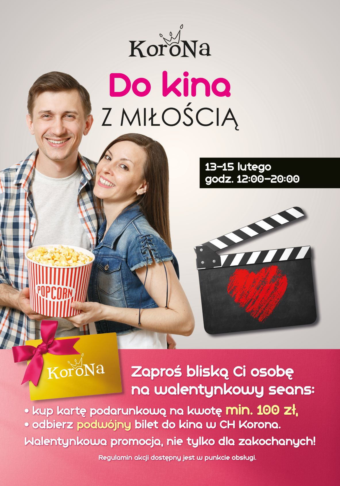 Centrum Korona rozdaje bilety do kina na Walentynki