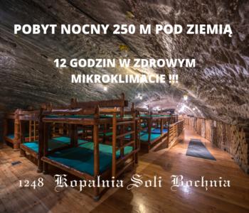 Pobyty nocne 250 m pod ziemią – marzec, kwiecień