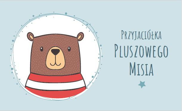 Przyjaciółka Pluszowego Misia medal do druku plakietka