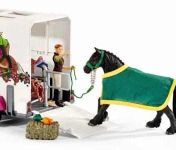 Schleich – Pick Up z przyczepą dla konia + GRATIS