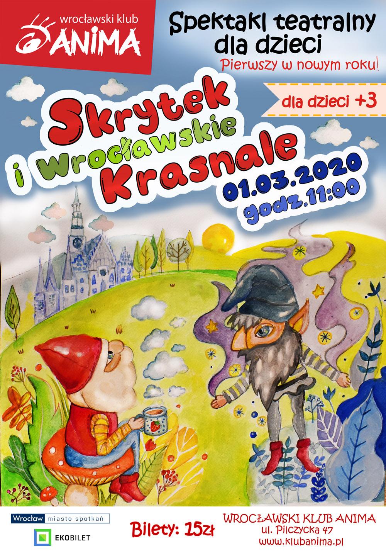 Spektakl dla dzieci: Skrytek i Wrocławskie Krasnale