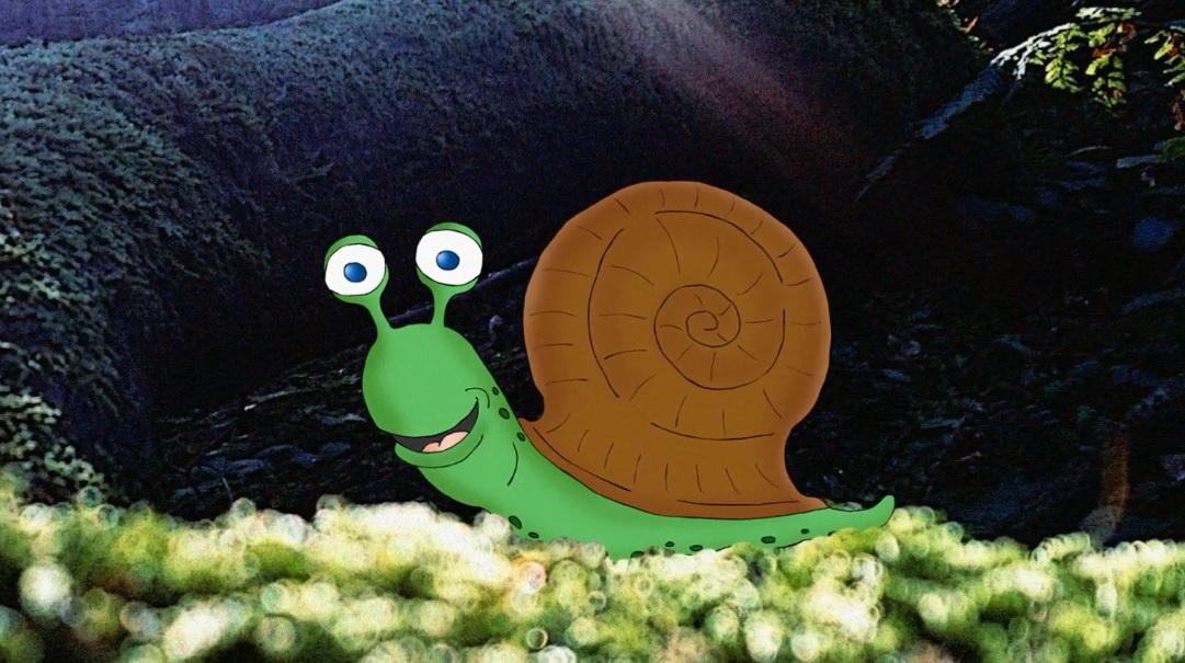Bajka o ślimaku do czytania lub słuchania