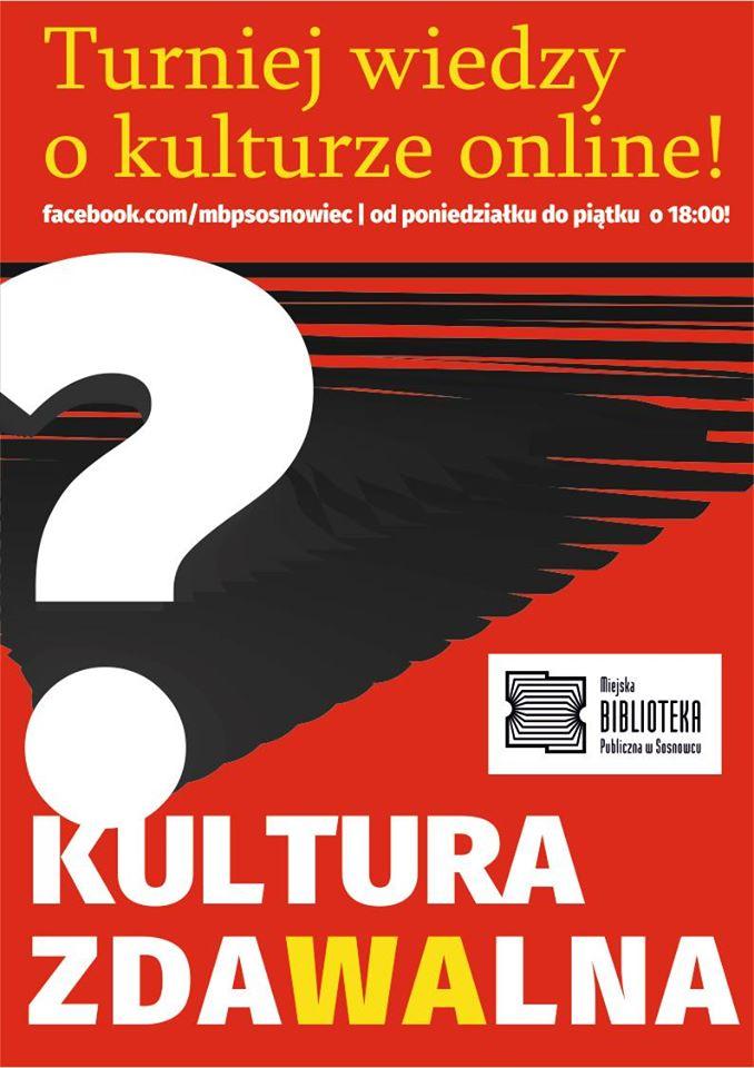 Kultura zda(wa)lna – turniej wiedzy o kulturze na Facebooku