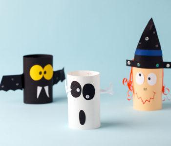 Halloween – sympatyczne potworki z rolek po papierze toaletowym