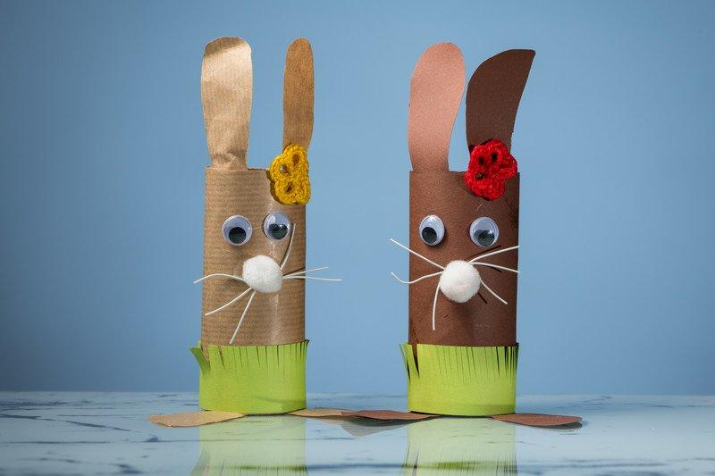 Jak zrobić wielkanocne króliki z rolek po papierze toaletowym wielkanocne dyi dla dziei