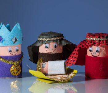 Trzej królowie jak zrobić oryginalną szopkę z rolek po papierze toaletowym