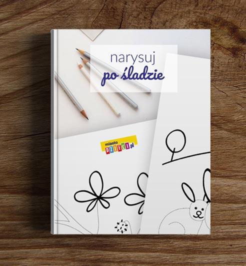 Rysowanie po śladzie - bezpłatny ebook dla dzieci