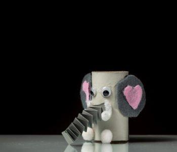 Zabawy z rolek po papierze toaletowym słonik diy dla dzieci