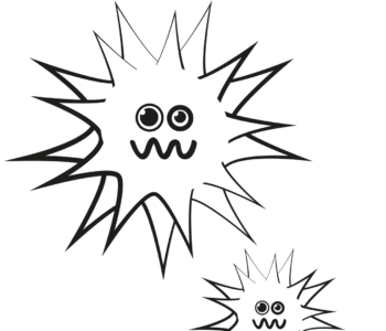 Wirus grypy kolorowanka dla dzieci do wydruku. Malowanki z wirusami
