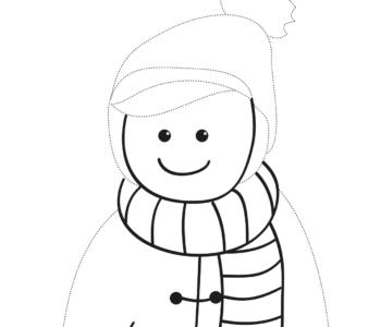 Zima Rysuj po linii zimowe ubranko
