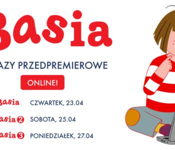 Zapraszamy na przedpremierowe pokazy online kultowego serialu dla dzieci Basia!