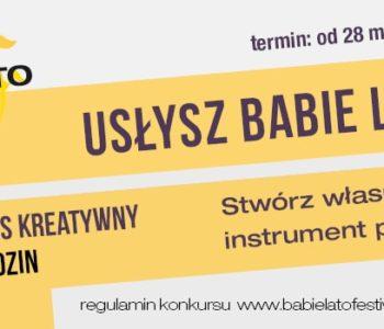 Usłysz Babie Lato – konkurs kreatywny dla rodzin
