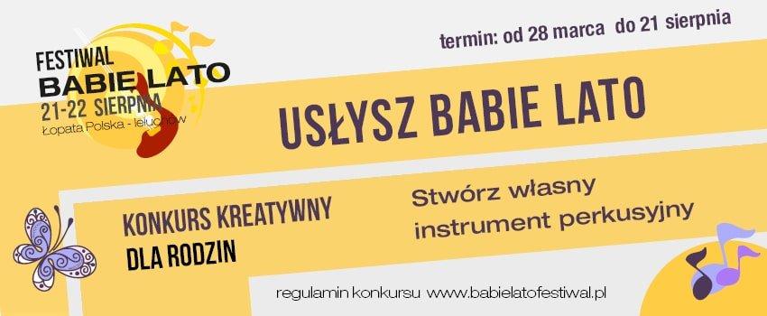 Usłysz Babie Lato - konkurs kreatywny dla rodzin
