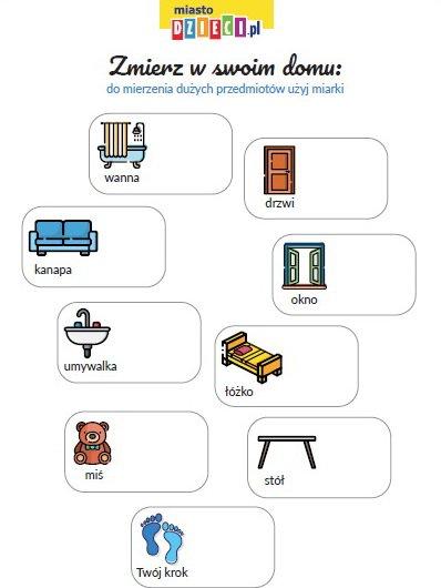 Zmierz przedmioty w domu – szablony do pobrania