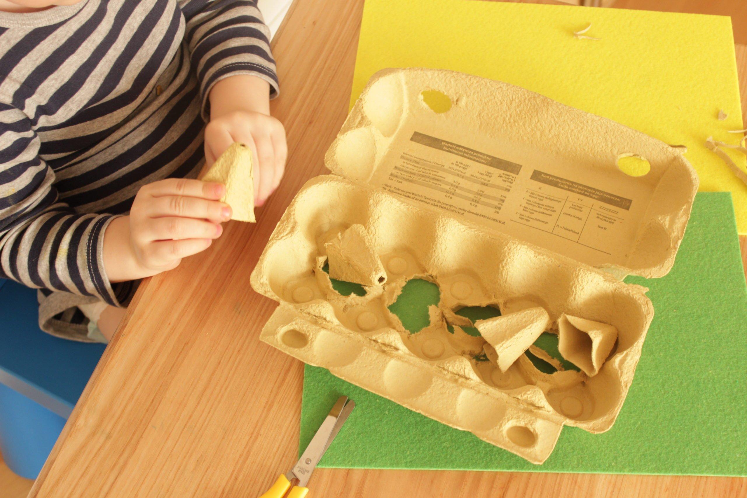 Myszki z pojemników po jajkach