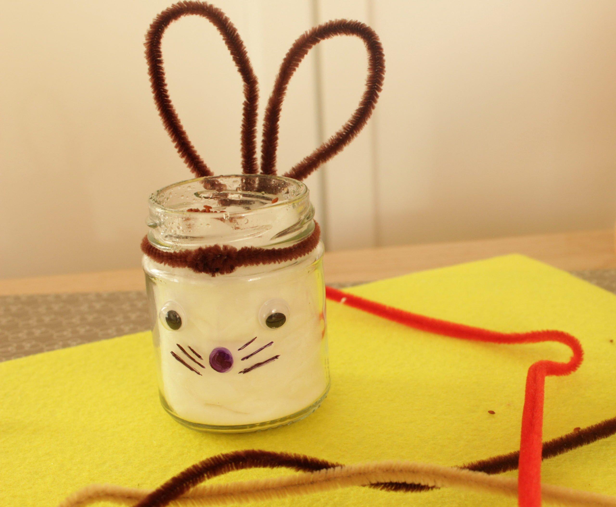 Rzeżucha królik wielkanocny zabawy dla dzieci DIY