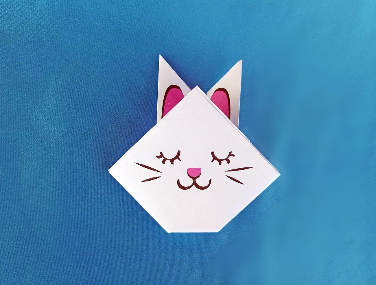 króliczek origami dla dzieci, łatwe zabawy wielkanocne dla dzieci