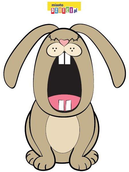 Paszcza królika do karmienia - pobierz szablon, zwierzęta do karmienia zabawy edukacyjne dla dzieci do druku