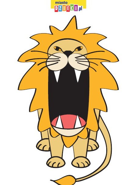 Paszcza lwa do karmienia - pobierz szablon, zwierzęta do karmienia karty pracy do druku dla dzieci