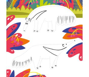 Połącz kropki darmowa malowanka online dla dzieci