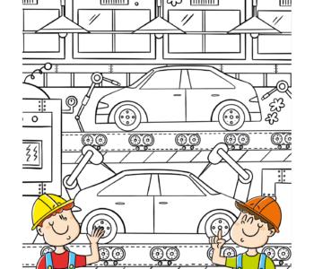 Kolorowanki online dla chłopców, samochody do druku