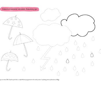 Rysuj po linii – deszcz