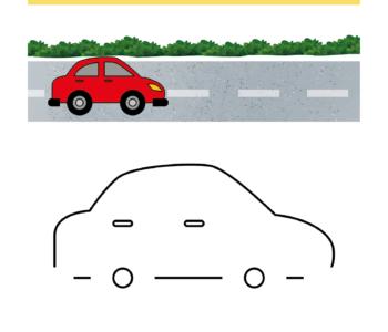 Dokończ rysunek samochodu, kolorowanka do wydruku. Darmowe malowanki online i karty pracy