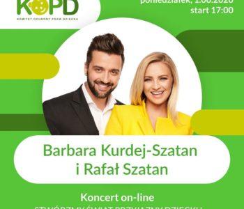 Wirtualny koncert KOPD z Barbarą Kurdej-Szatan i Mateuszem Damięckim