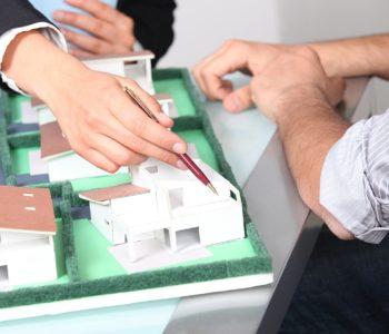 makieta domku jednorodzinnego