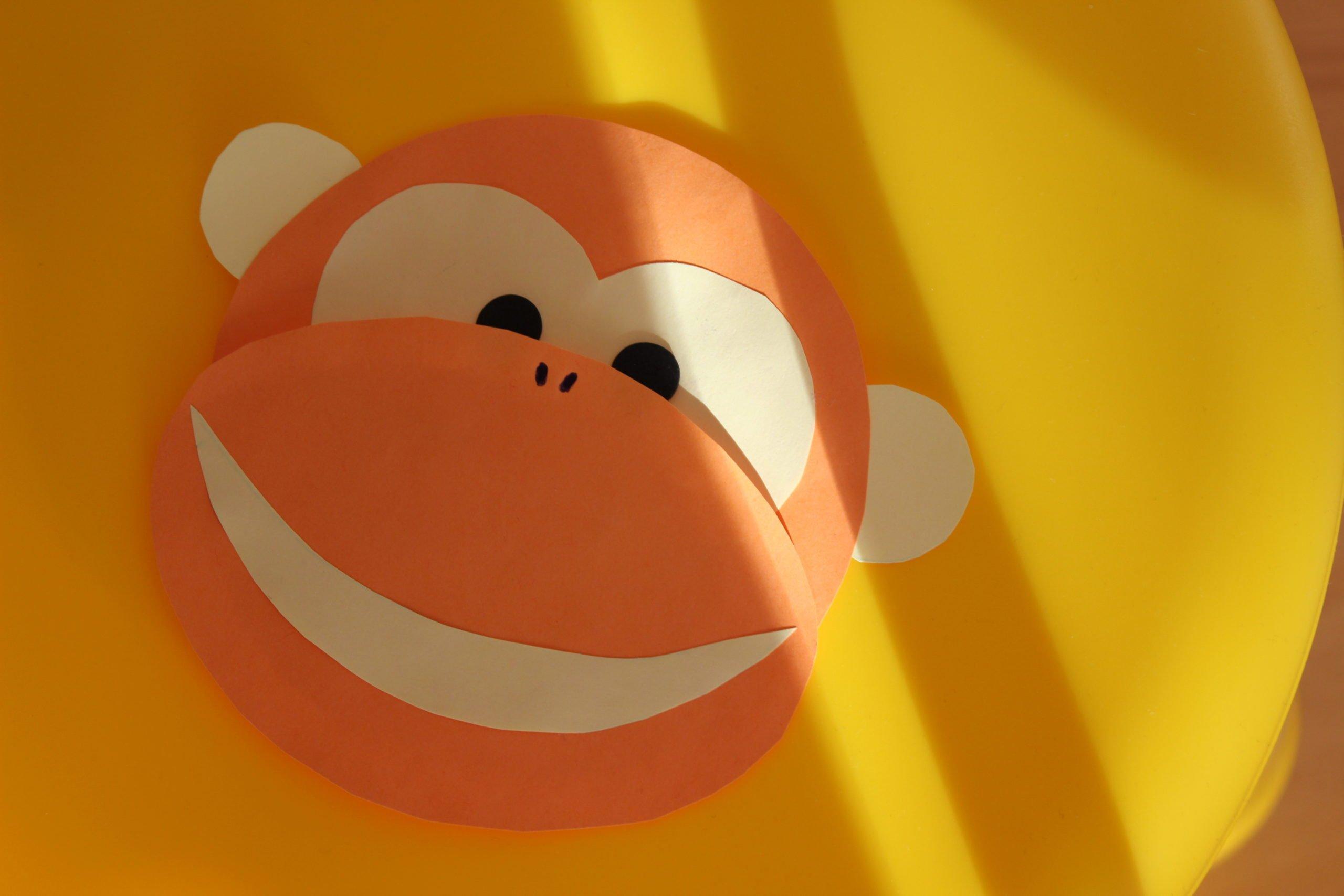 małpka z papieru zabawa dla dzieci