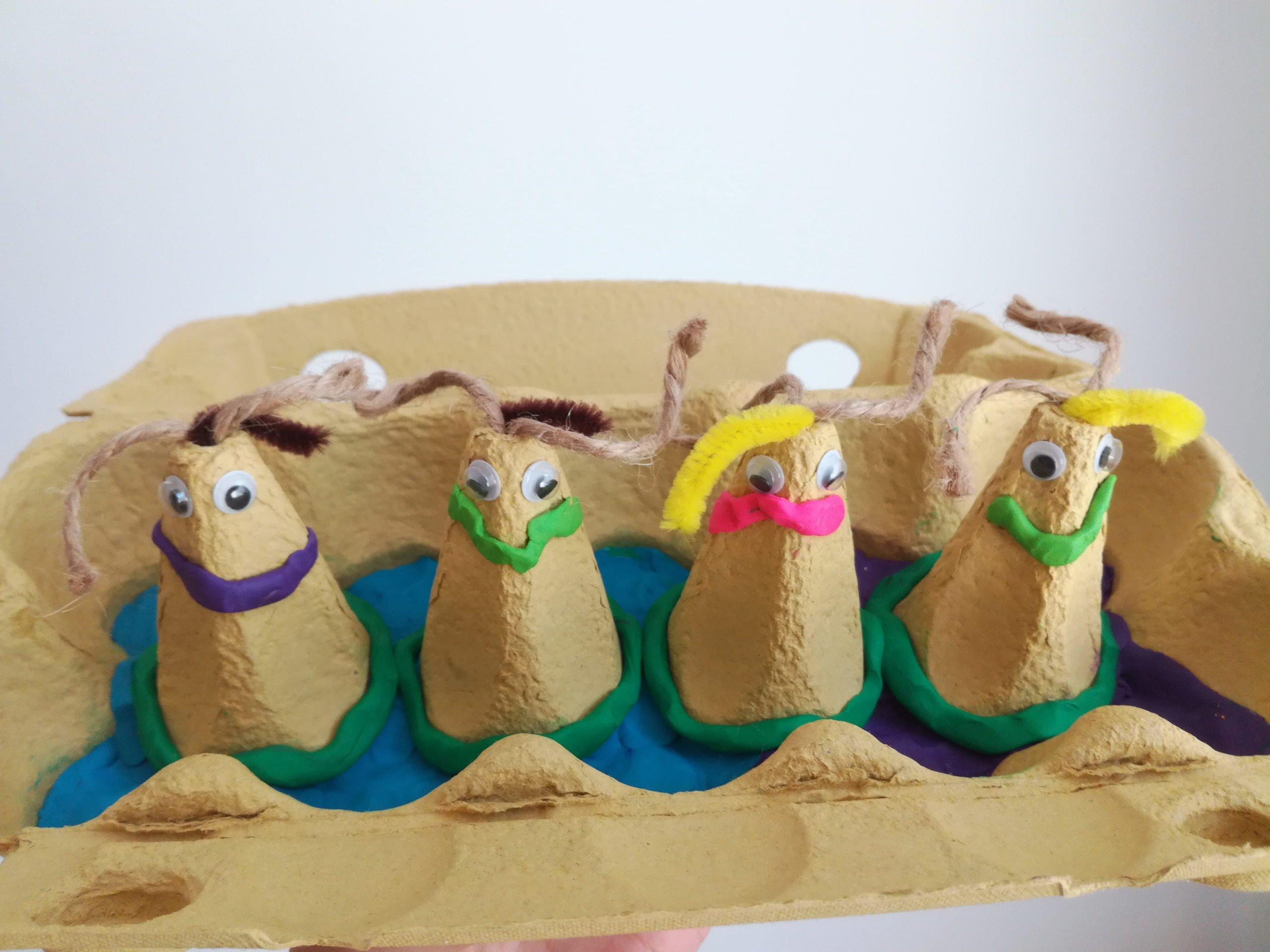 Zabawne ludziki zabawa plastyczna dla dzieci diy recykling