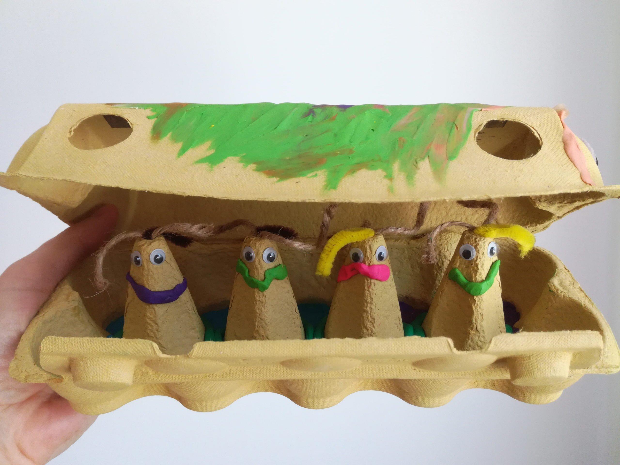 recykling dla dzieci zabawa plastyczna diy