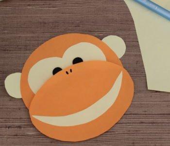 Małpka z papieru jak zrobić małpkę, zabawa plastyczna dla dzieci diy
