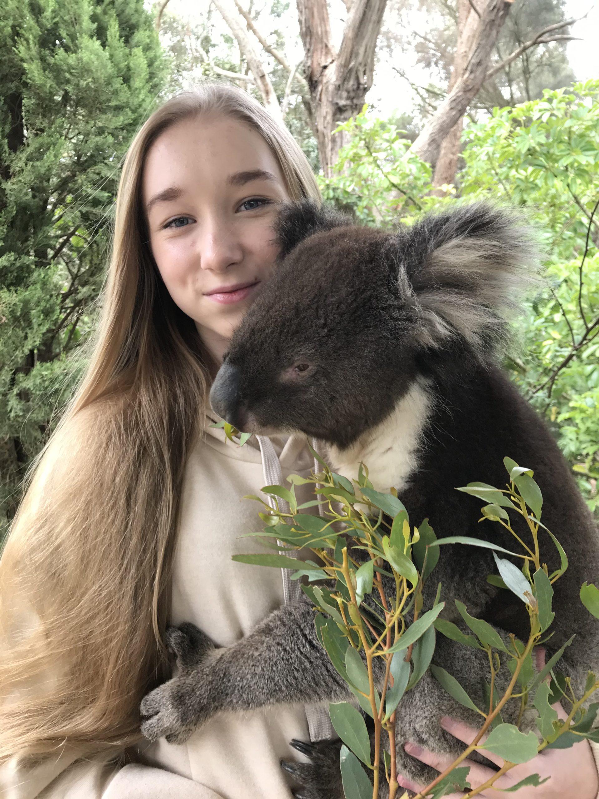 Nela Mała Reporterka w szpitalu dla zwierząt, Wyspa Kangura, Australia, 25.02.2020, fot. archiwum prywatne