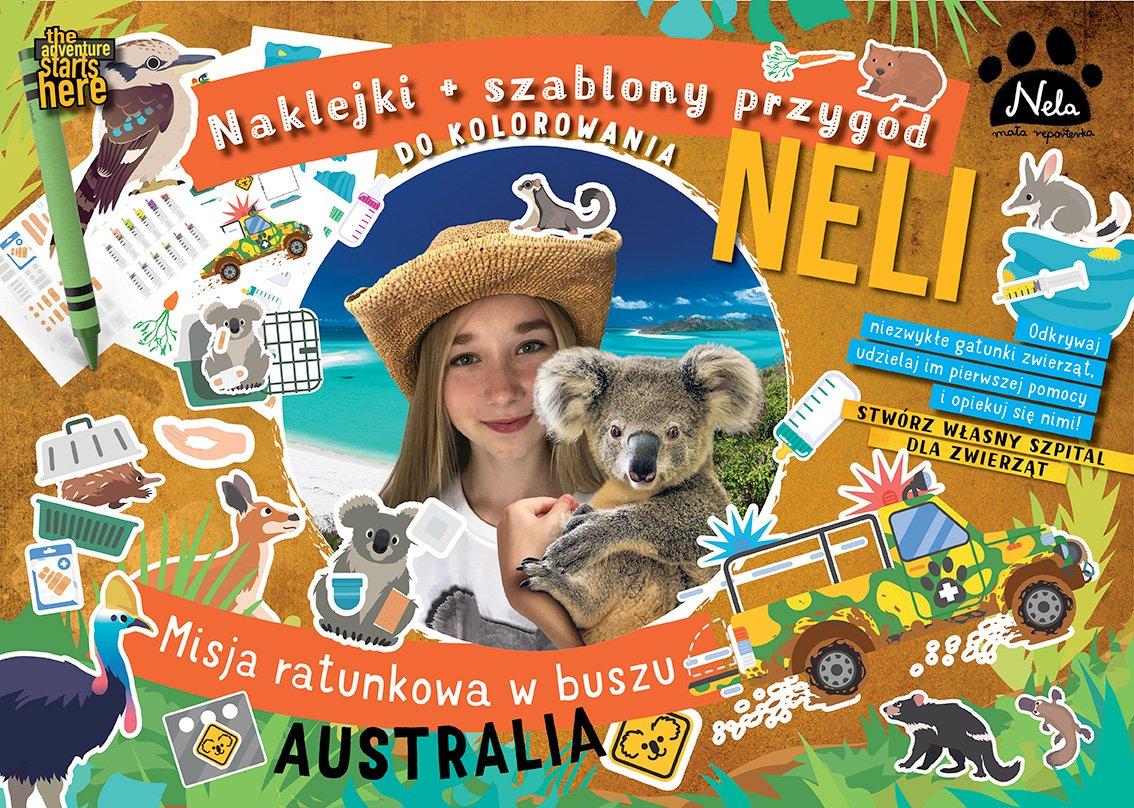 Szablon z naklejkami – Nela na Wyspie Kangura