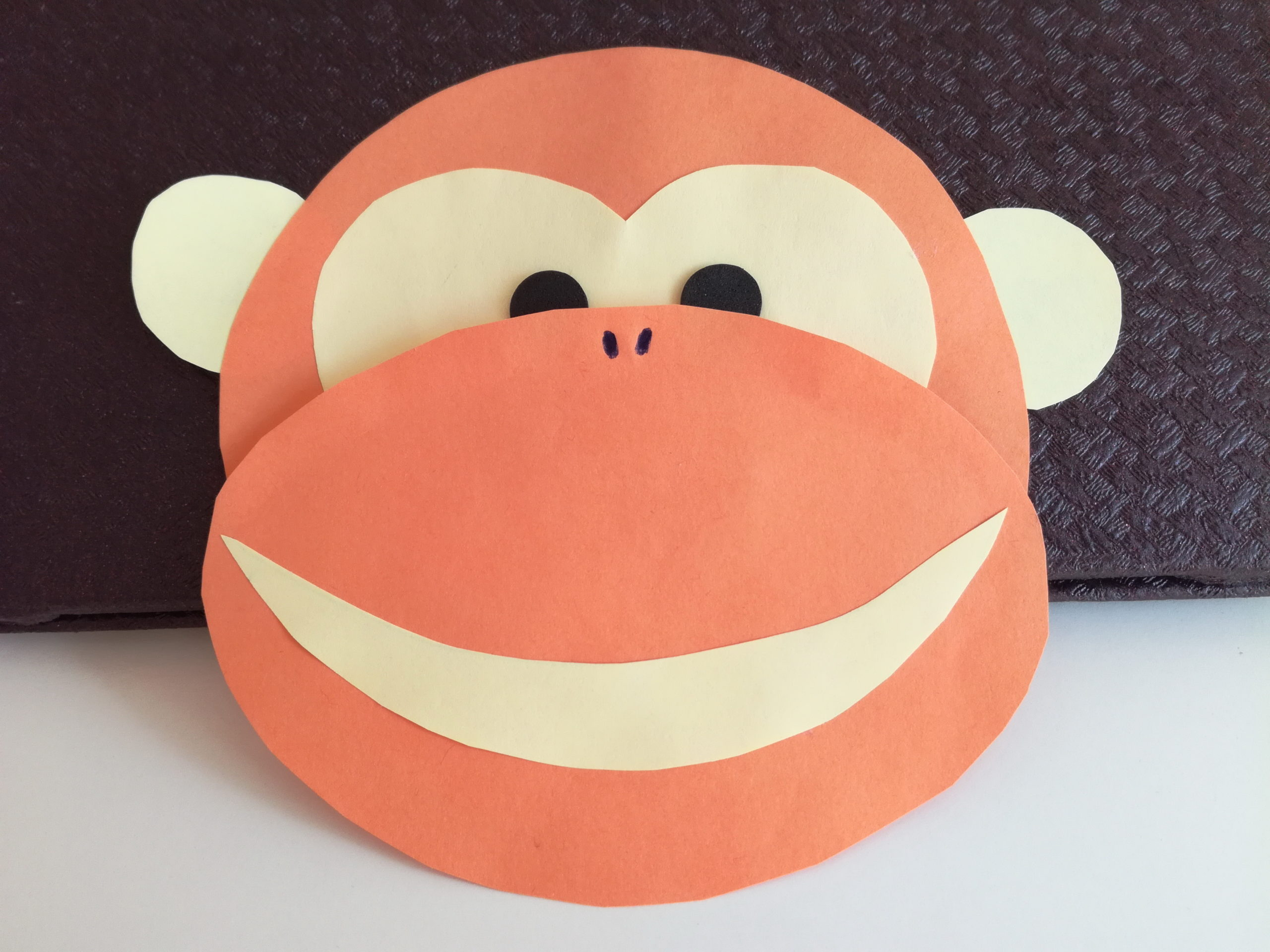 Zrób małpkę z papieru zabawa diy