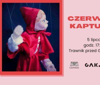 Teatr Barnaby: Czerwony Kapturek na trawniku przy Plamie GAK