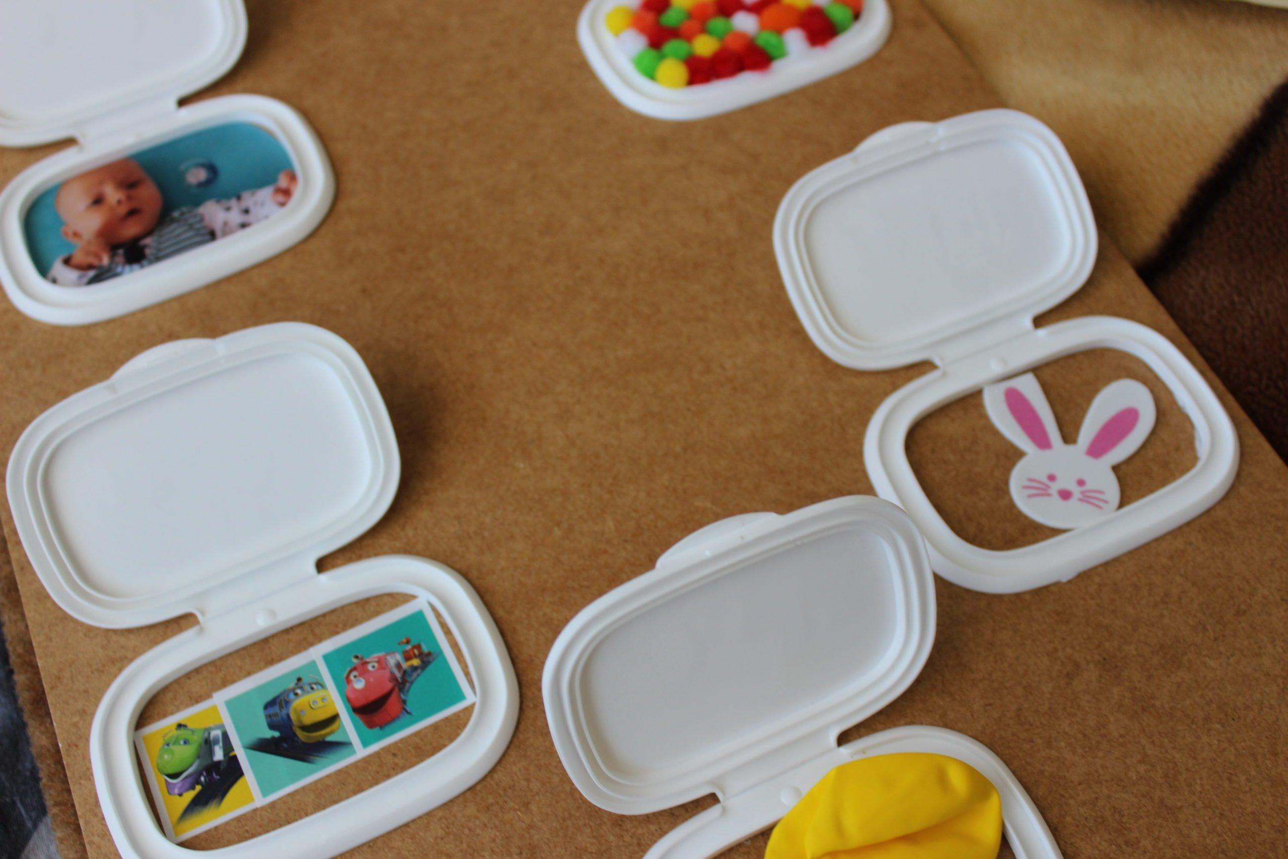 zabawki z opakowań po chusteczkach Diy dla dzieci tablica odkrywcy
