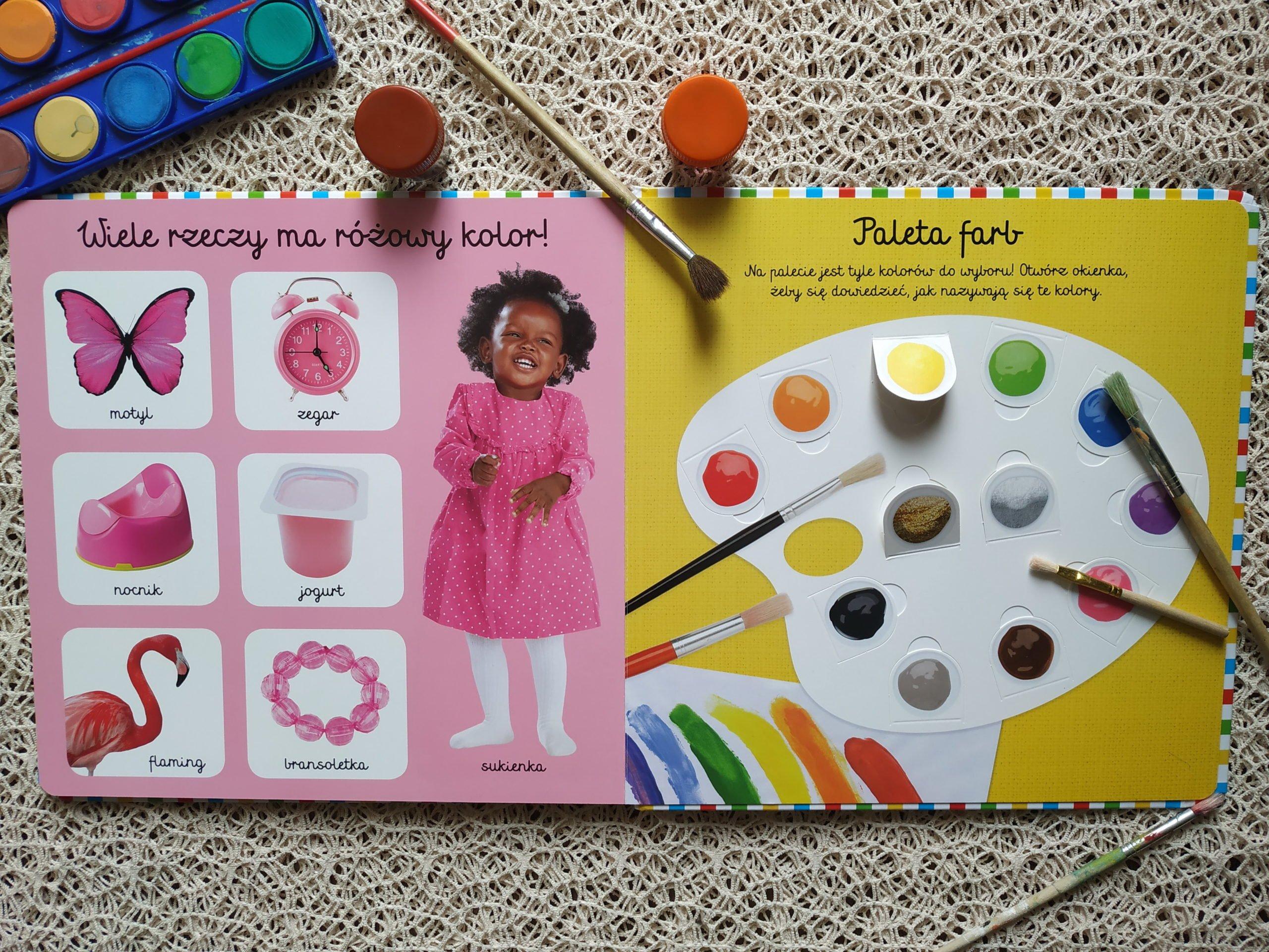książka do nauki kolorów recenzja książki akademia mądrego dziecka moja pierwsza książka o kolorach